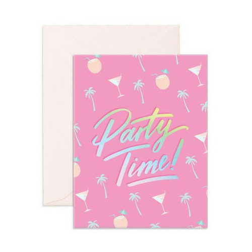 party time holographic greeting card
