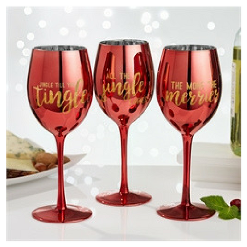 Christmas Wine Glasses - 3 Options