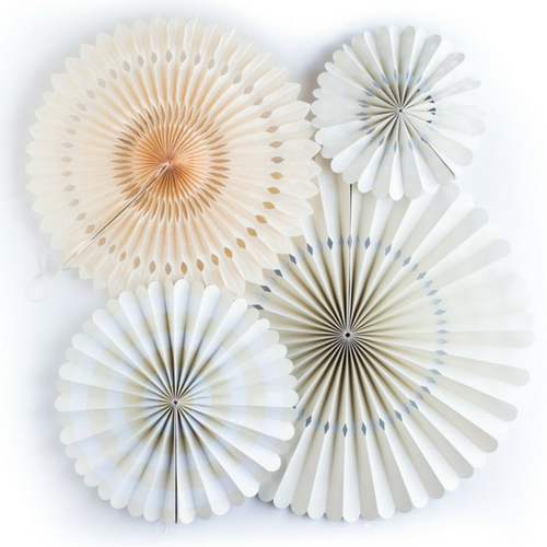 ivory paper fans