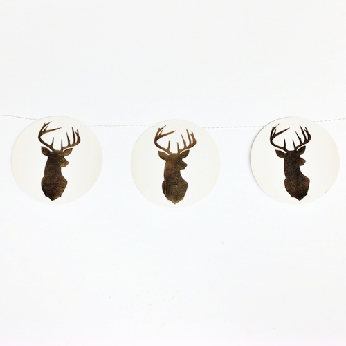 stag head christmas banner