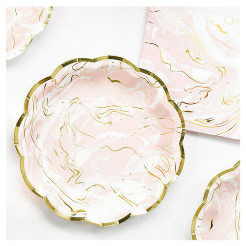 Pink Marble Plates