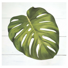 tropical leaf paper placemats