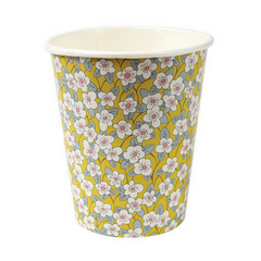 assorted floral liberty print cups