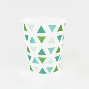 Green Diamonds Cups