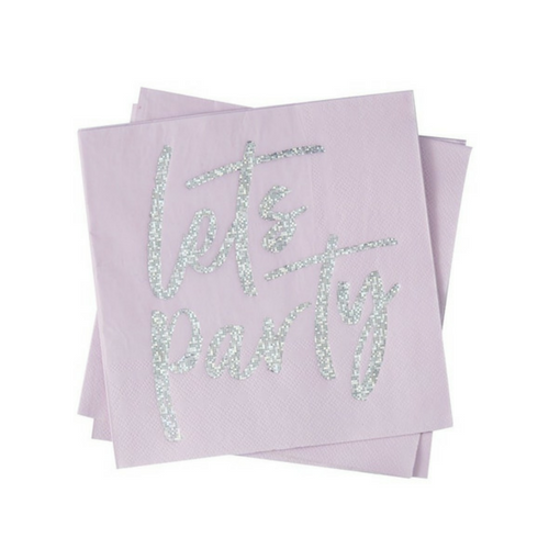 holographic lets party napkins