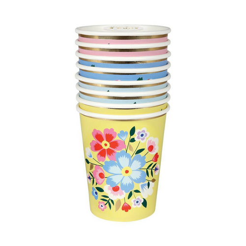 floral cups small