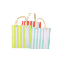 Neon Stripe Gift Bags