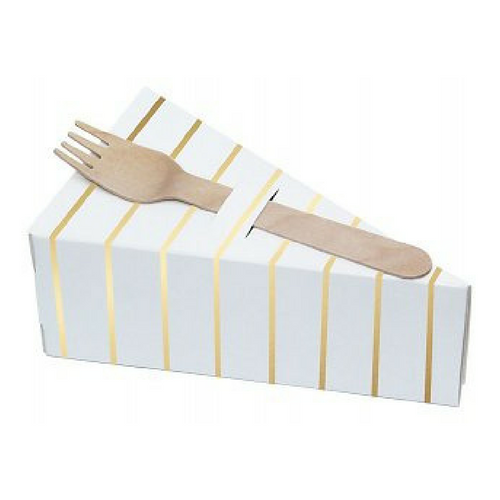 Decorative Pie Boxes - Gold Striped