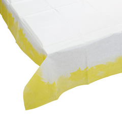 Fluorescent Yellow Paper Table Cover
