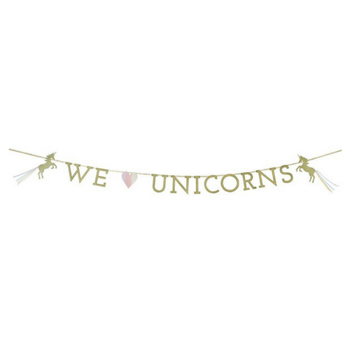 """We Heart Unicorns"" Garland"