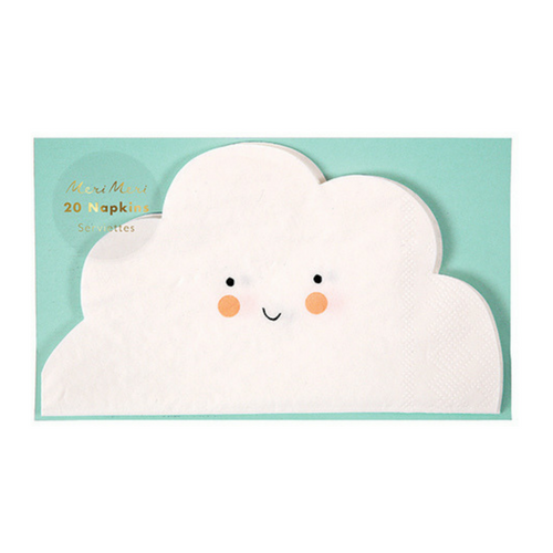cloud shape paper party napkins