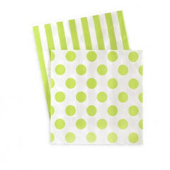 Green Stripe & Polka Dot Napkins
