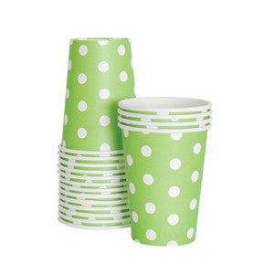 Green with White Polka Dot Cups