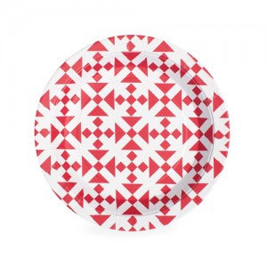 Aztec Red Plates