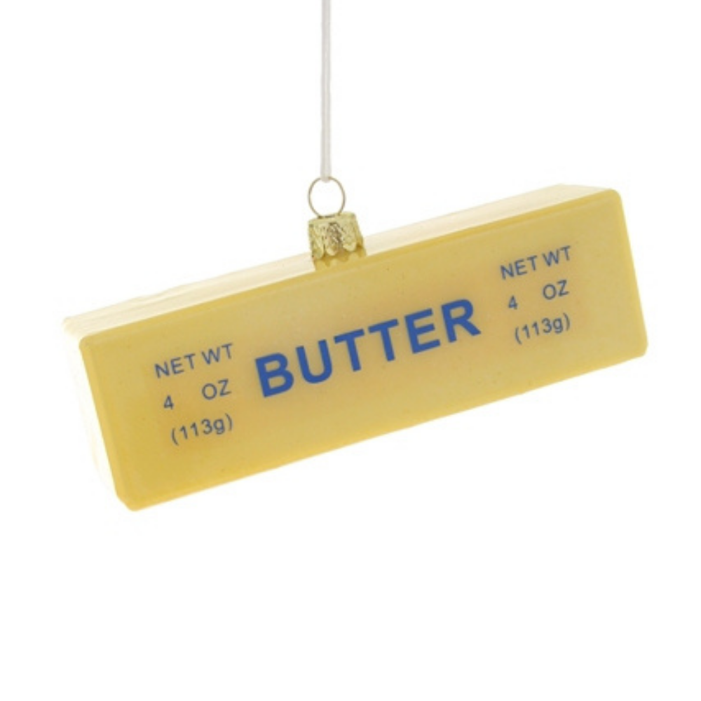 Jollity & Co, Ornament, Stick of Butter Ornament, Butter stick ornament, Stick of butter Christmas Ornament, Stick of butter holiday ornament