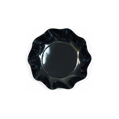 Black Ruffled Plates