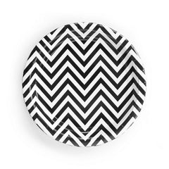 Chevron Black Plates