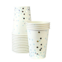 Blue Confetti Pattern Cups