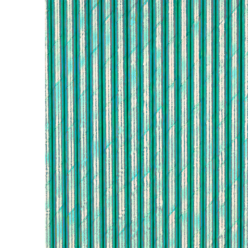Foil Bubble Mint Paper Straws from Jollity & Co