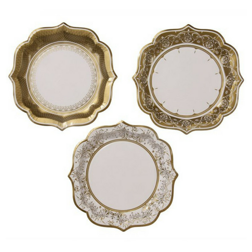Gold Baroque Style Plates