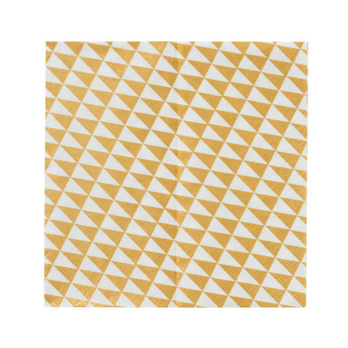 Gold Geometric Napkin