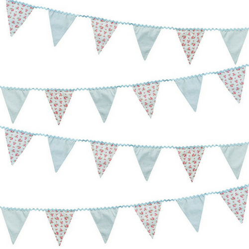 Vintage Patterned Fabric Bunting
