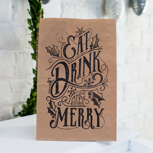 Eat, Drink, & Be Merry Treat Bags