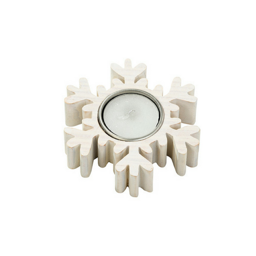 Snowflake Wooden Tealight Holder