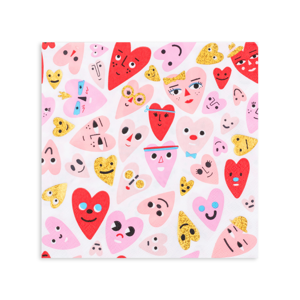 Heartbeat Gang Large Napkins from Daydream Society