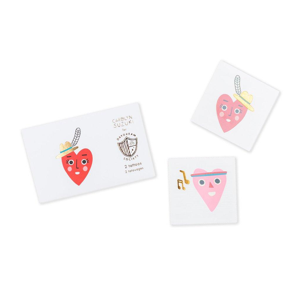 Heartbeat Gang Temporary Tattoos from Daydream Society