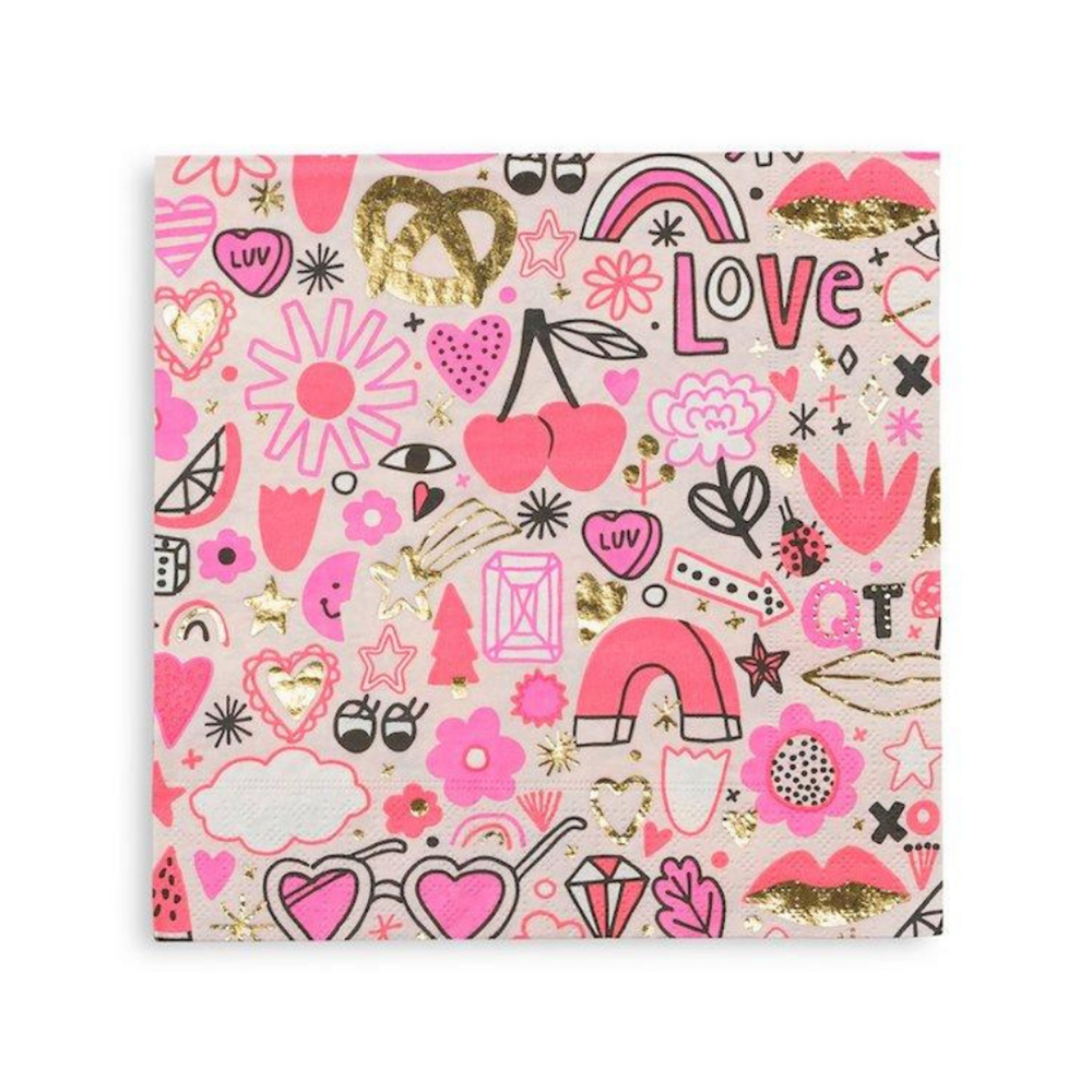 love notes large napkins from Daydream Society