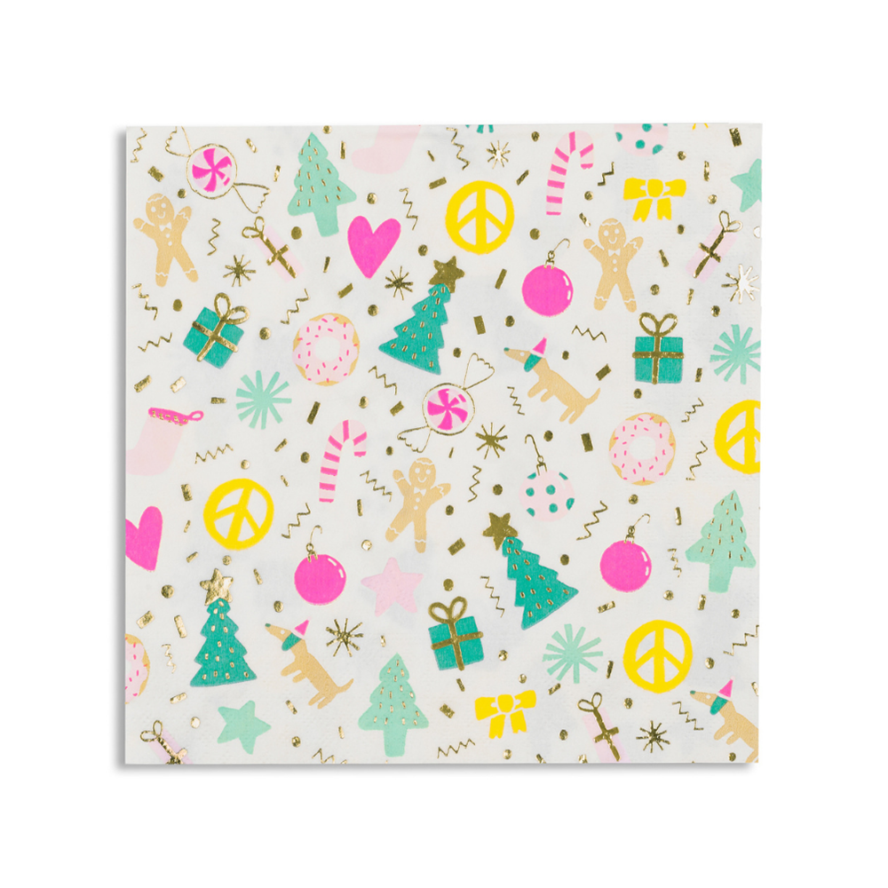 Merry + Bright Large Napkins from Daydream Society
