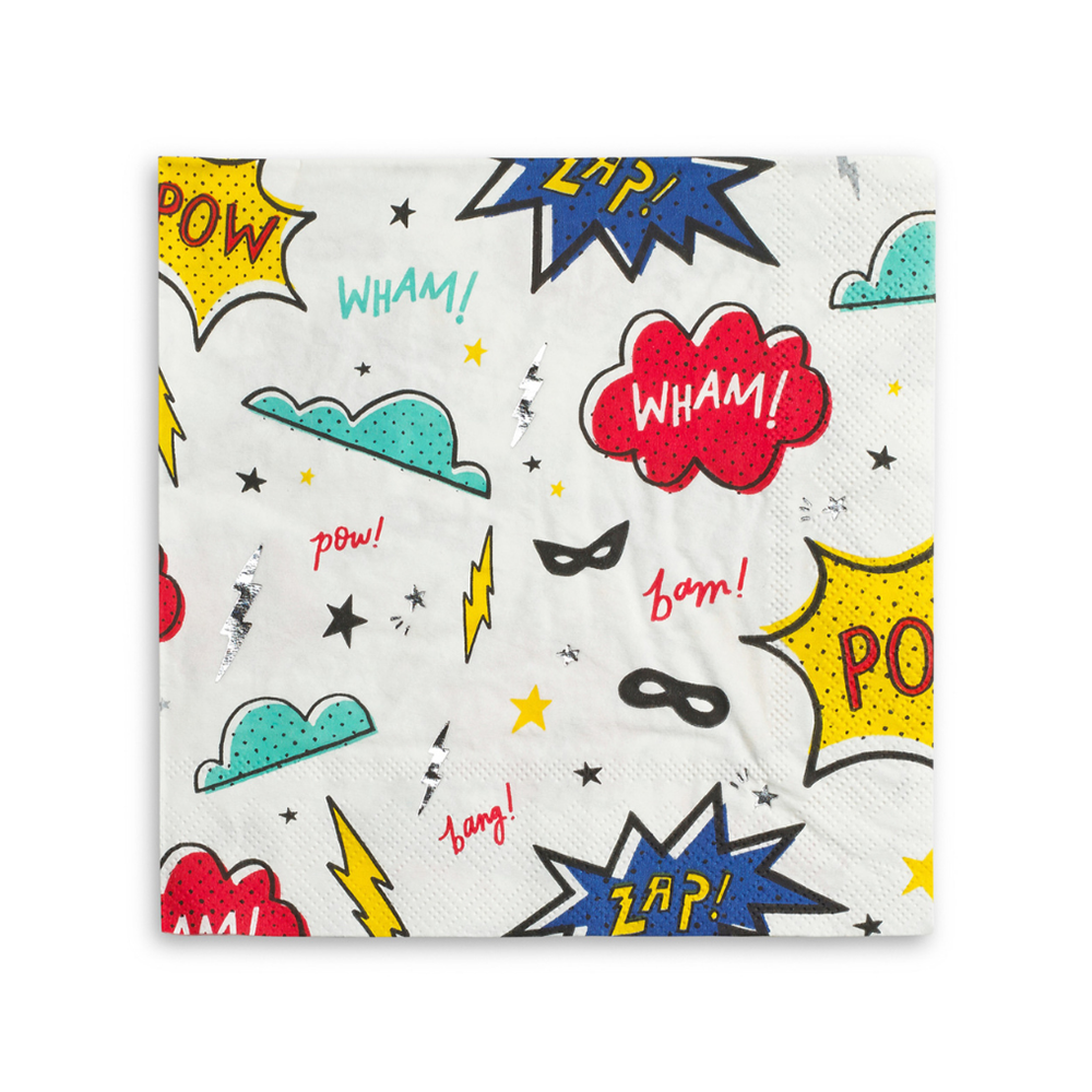 Superhero Large Napkins from Daydream Society