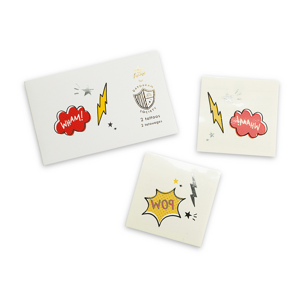 Superhero Temporary Tattoos by Daydream Society