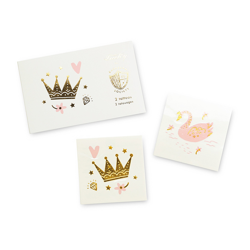 sweet princess temporary tattoos from daydream society