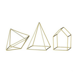 Geometric Brass Decor