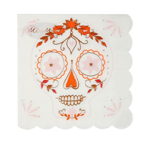 Sugar Skull Napkins, Napkins, Halloween Napkins, Day of the Dead, Jollity & Co