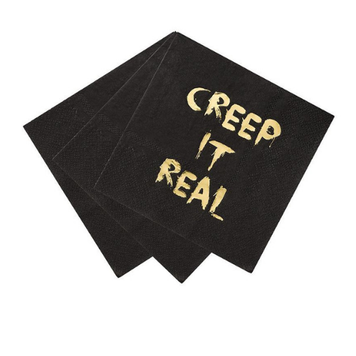 """Creep It Real"" Napkins, HALLOWEEN, jOLLITY & CO, HALLOWEEN NAPKINS"