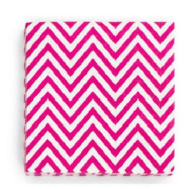 Chevron Hot Pink Napkins
