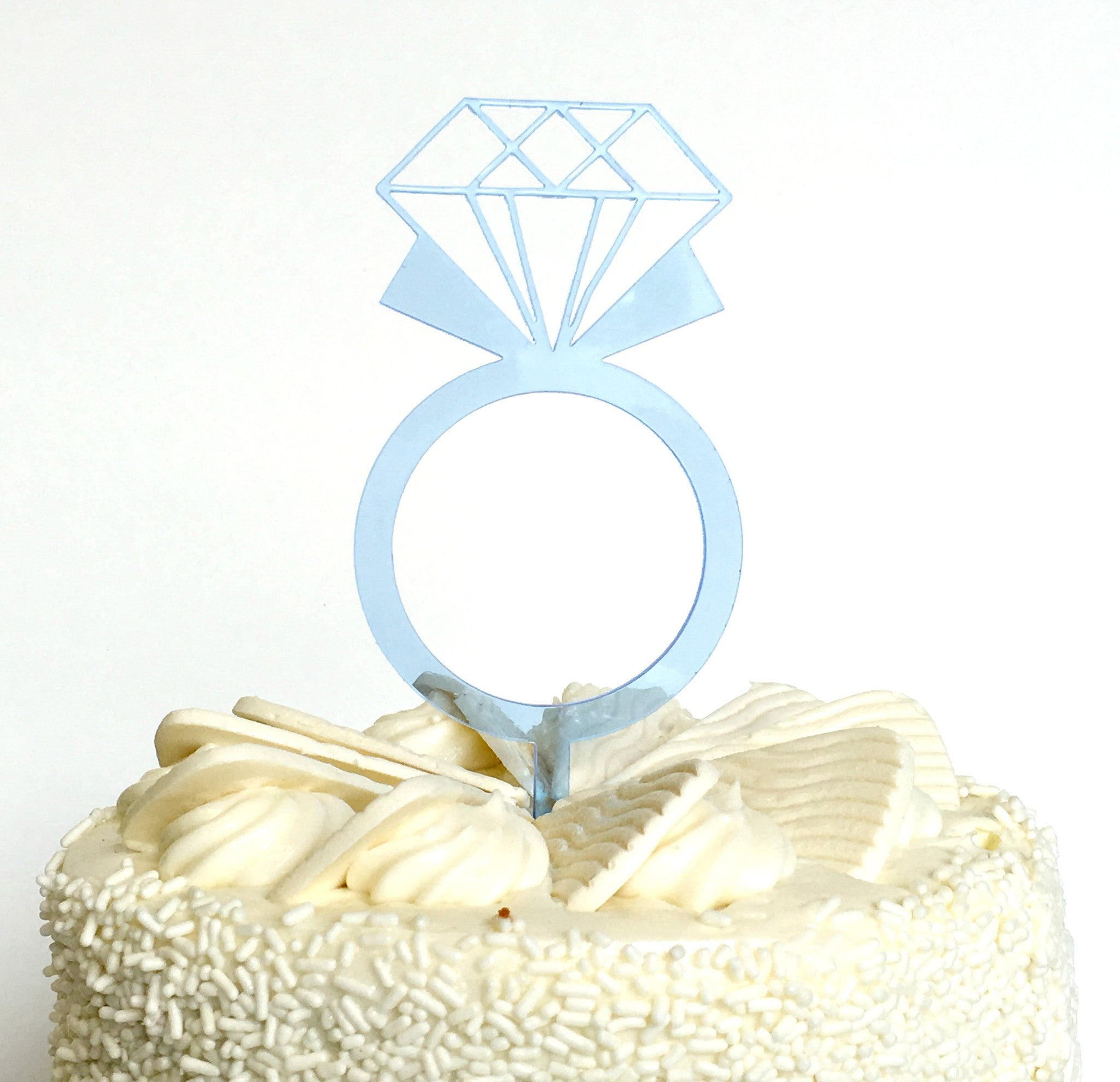Diamond Ring Cake Topper