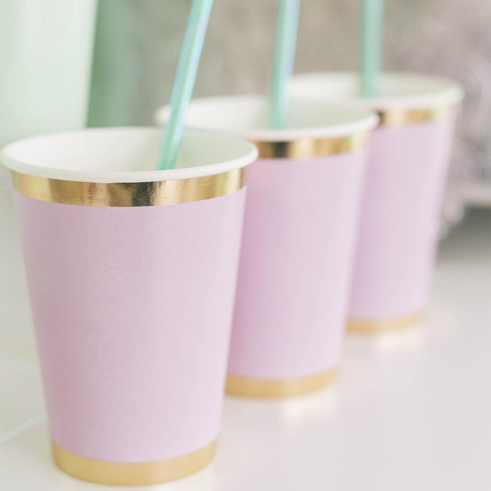 Posh Lilac You Lots 12 oz Cups from Jollity & Co