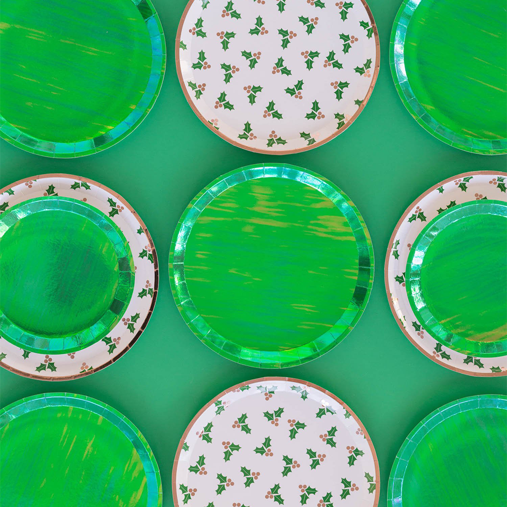 Posh Emerald City Round Dinner Plates from Jollity & Co