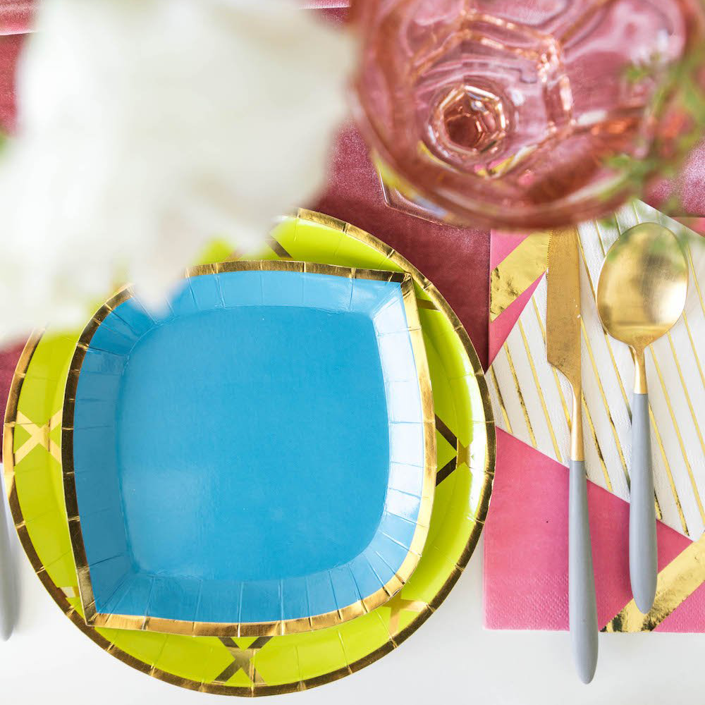 Posh Blue My Mind Dessert Plates from Jollity & Co