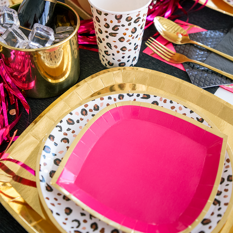 Posh Pinky Pie Dessert Plates from Jollity & Co