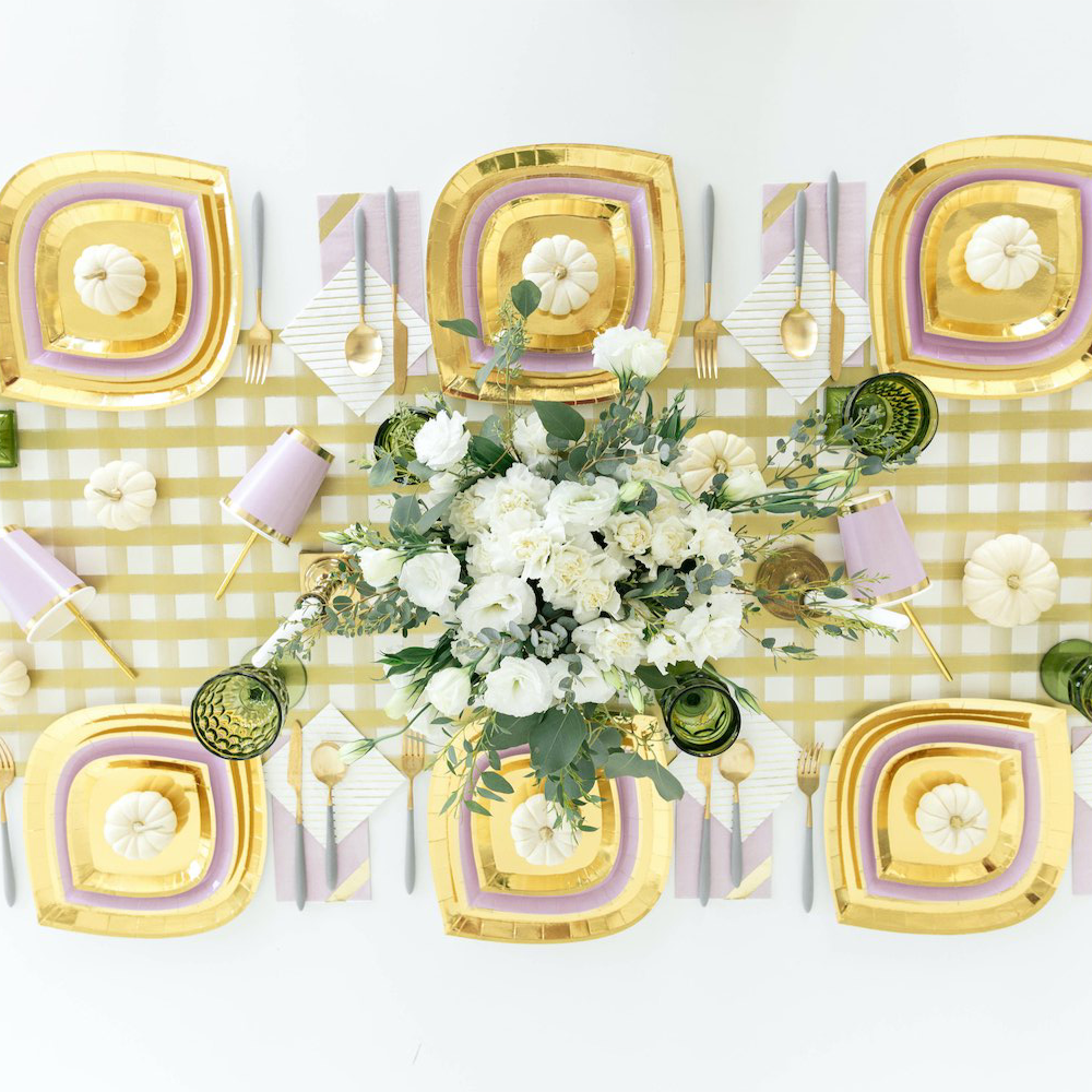 Posh Gold To Go Charger Plates from Jollity & Co