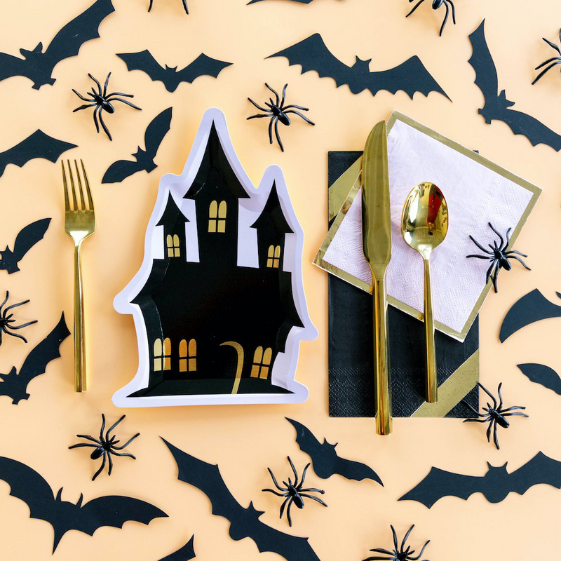Spooktacular Haunted House Dessert Plates from Jollity & Co