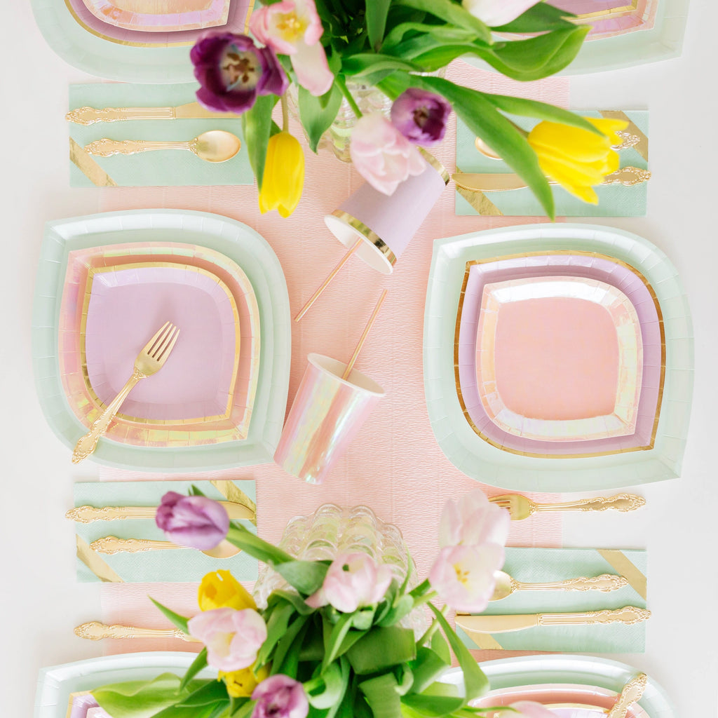 Just Peachy, Lilac You Lots and Mint to Be Plates from Jollity & Co