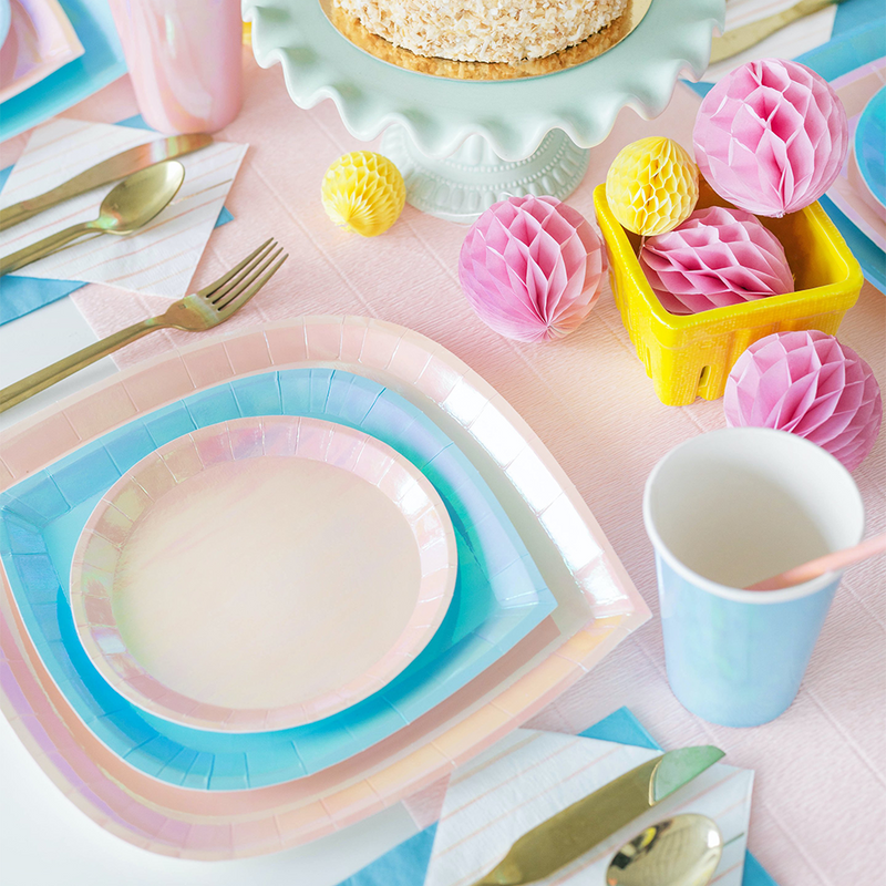 Posh Just Peachy Charger Plates from Jollity & Co
