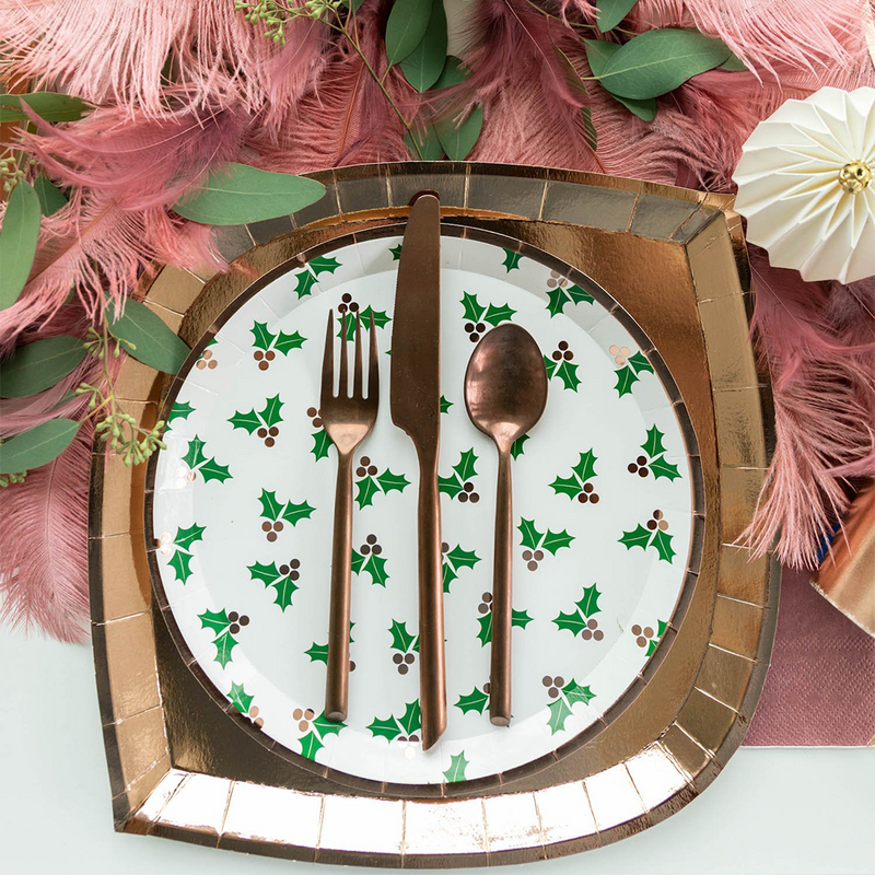 Holly Jollity Holly Print Dinner Plates from Jollity & Co