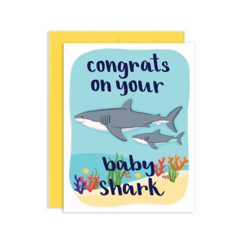 Baby Shark Greeting Card, Jollity & Co